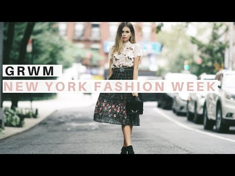 FASHION WEEK EVENT GET READY WITH ME | NYFW | Makeup, Hair, and Outfit