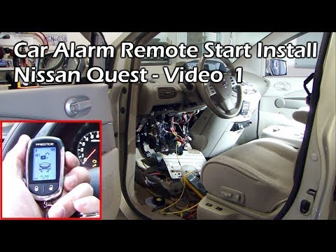 How To Install Car Remote Start - Nissan Video 1