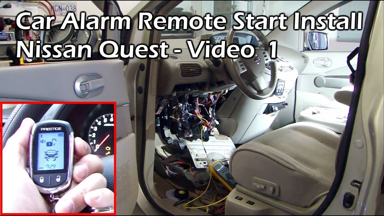 install car alarm remote start nissan quest video 1. Black Bedroom Furniture Sets. Home Design Ideas