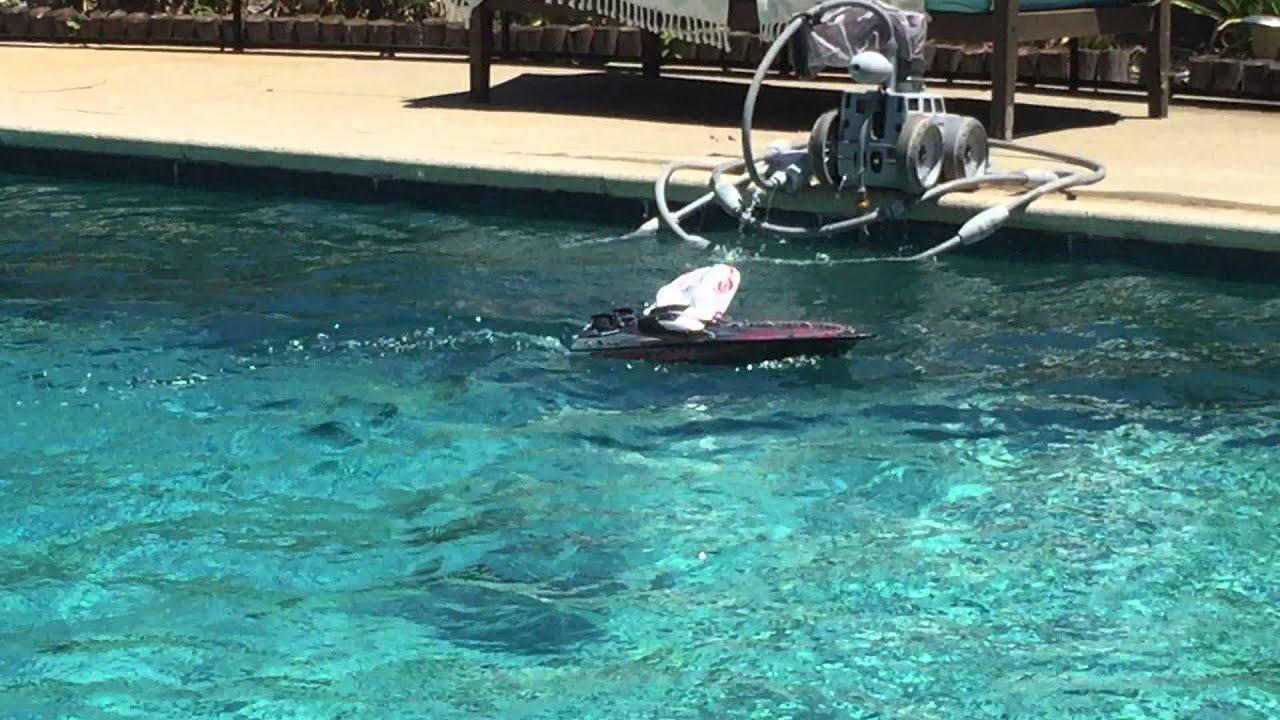 racing rc boats around the pool! - youtube