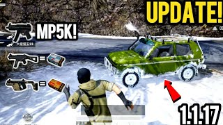 PUBG Mobile 1.1.17 UPDATE is OUT! What's New? MP5K, Zima, Snow Bike, UMP45 and MORE!