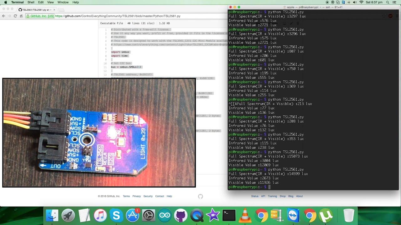 Raspberry Pi TSL2561 Light-to-Digital Converter Python Tutorial