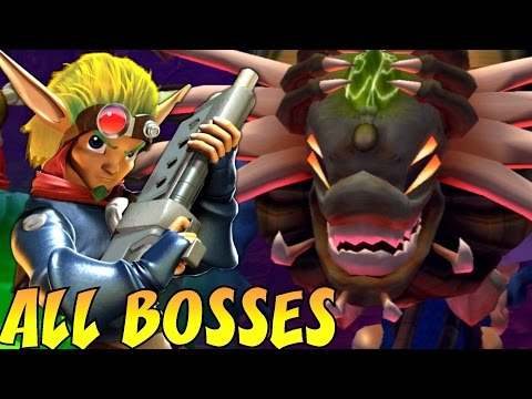 Jak 1, 2 and 3 HD Trilogy - All Bosses (No Damage)