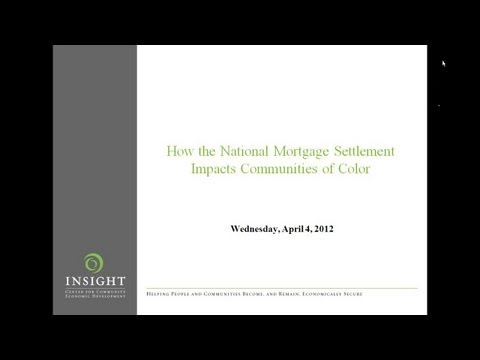 How the National Mortgage Settlement will Impact Communities of Color