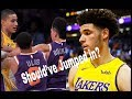 Media criticizes Lonzo Ball for not jumping in, should've he?