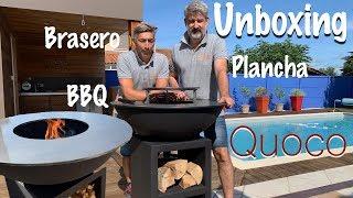 Unboxing Brasero Plancha BBQ Quoco 3 en 1