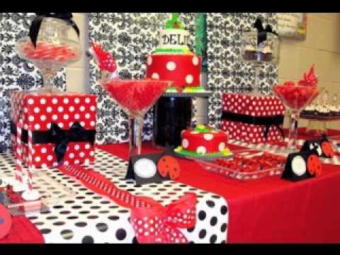 Ladybug birthday party decoration YouTube