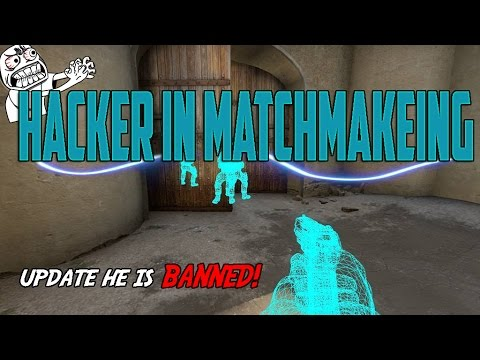 Matched against a Hacker in Counter strike Global Offensive. Wall and Triggerbot.