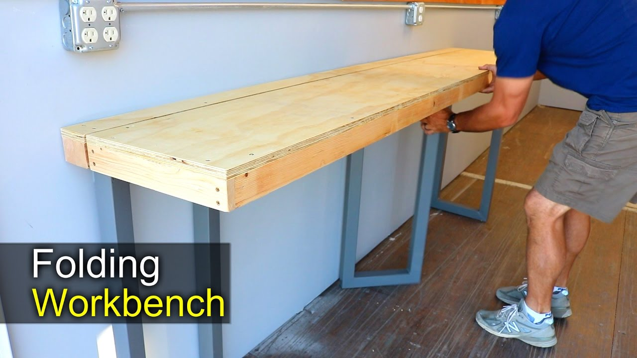 Diy Folding Workbench How To Shipping Container Shop
