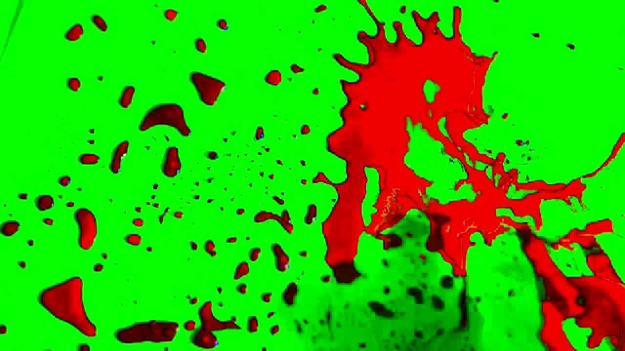 Blood Splatter with Sound - Green Screen - FREE - HD by DC Stock Footage