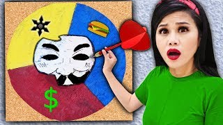 Throwing a DART at a MAP & Hacker Girl PZ4 Unmasking Whatever It Lands On - Spy Ninja Challenge Video