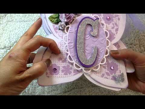 Butterfly shaped banner using TGF Anya stamps