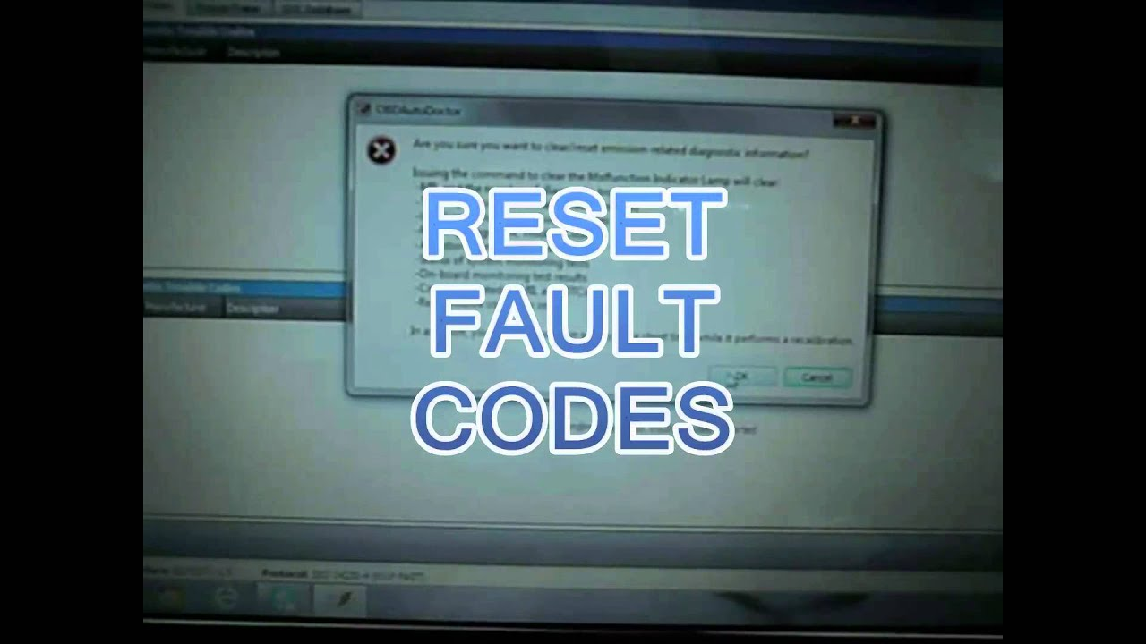 Vectra Check Engine Light Reset Reset Ecu Delete Fault