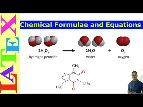Basic Chemical Formulae and Equations in Latex (Latex Tutorial, Episode-25)