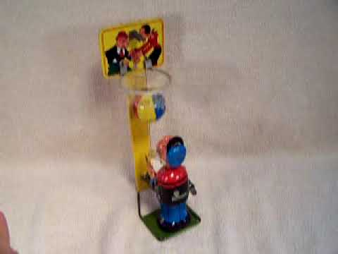 Popeye Basketball Player By Linemar Toys Of Japan 1950 S Youtube