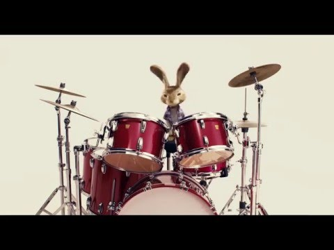 Bunny  plays the drums