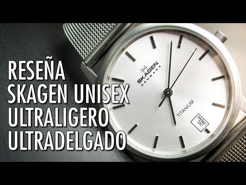Reseña Skagen Denmark 170LTTW Reloj Ultraliviano De Cuarzo En Español
