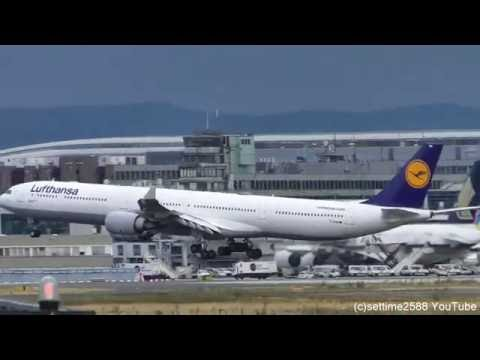 Frankfurt Airport Plane Spotting. Airbus A380, A340, Boeing 777, 767, MD11, and Many More
