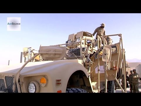 Army 401st Logistics TF North Prep Vehicles and Equipment in Afghanistan