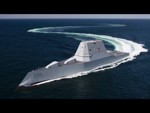 Navy's $3B stealth warship sets sail