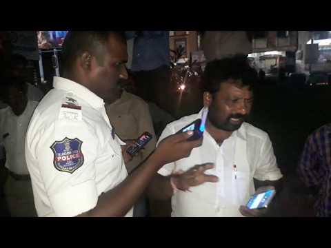 Geesugonda MPP Husband caught in drunk and drive at Kazipet - full video [ Warangal Traffic Police ]