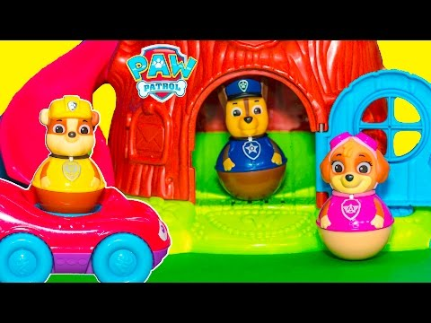 PAW PATROL Nickelodeon Peppa Pig Weel tree House with New Toys Videos