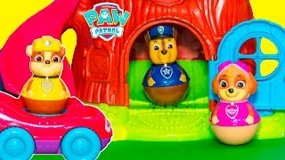 PAW PATROL Nickelodeon Peppa Pig Weel tree House with New Toys Videos