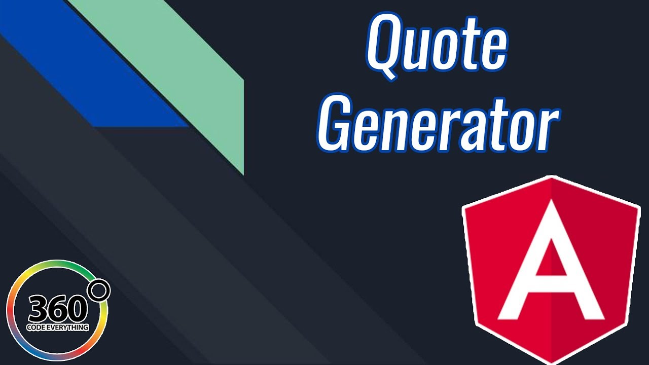 Random Quote Generator Build A Random Quote Generator In Angular  Angular Projects  Youtube