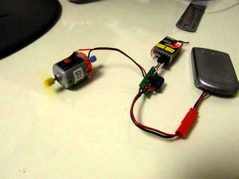 brushed motor speed controller for Lipo 1cell RC