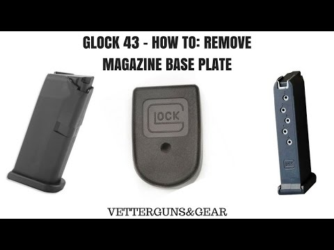 GLOCK 43 - How to Remove Magazine Base Plate