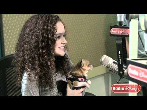 "Madison Pettis Meets Lala from ""Beverly Hills Chihuahua 2"" for the First Time on Radio Disney"