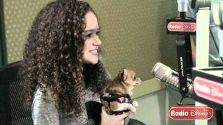 """Madison Pettis Meets Lala from """"Beverly Hills Chihuahua 2"""" for the First Time on Radio Disney"""