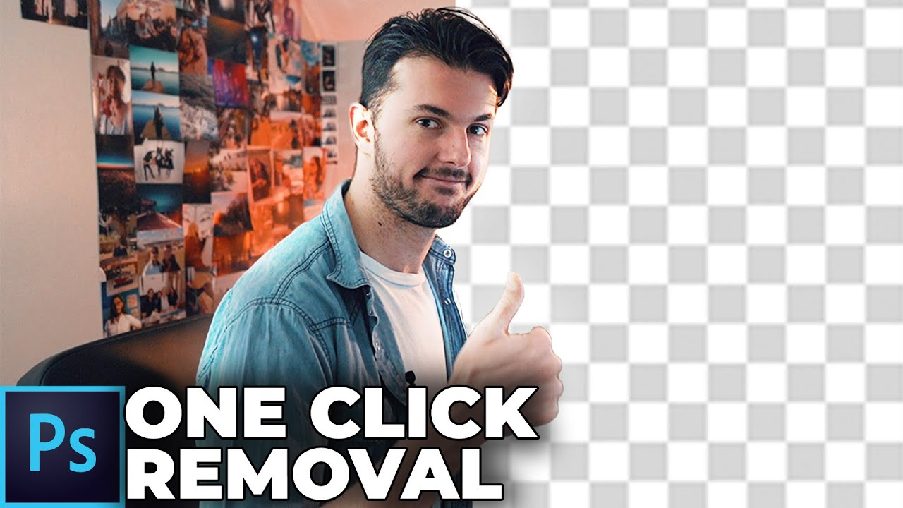 Remove Backgrounds in ONE click (Photoshop CC 2020 Tutorial)