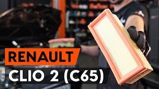 Comment changer Filtre à Air RENAULT CLIO II (BB0/1/2_, CB0/1/2_) - video gratuit en ligne