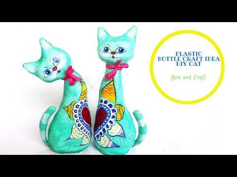 PLASTIC BOTTLE CRAFT / DIY CAT