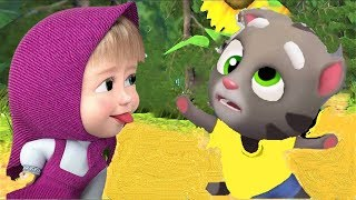 Кто круче? Маша из мультика Маша и Медведь или Говорящий Супер кот Том-Talking TOM  (#Teremok)