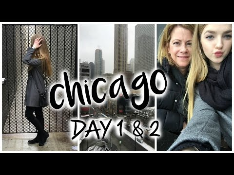 Chicago Vlog Day 1 & 2!  Road Trip, Shopping and Deep Dish Pizza!