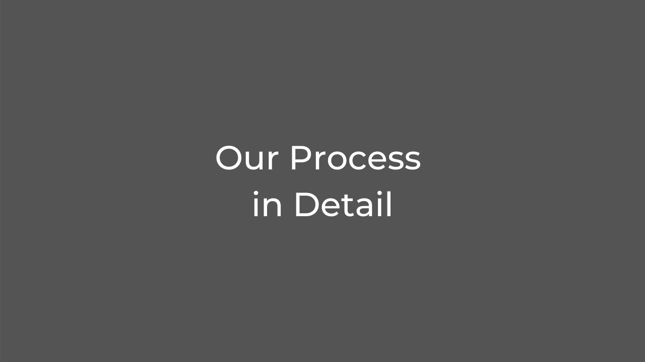 Our Process in Detail