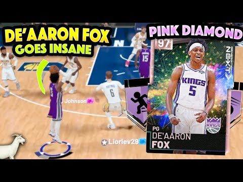 PINK DIAMOND DE'AARON FOX GOES INSANE!! THIS CARD IS A CHEAT CODE!! NBA 2K19