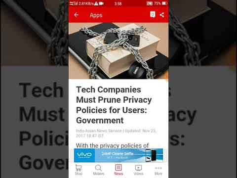 Tech Companies Must Prune Privacy Policies for Users: Government | News update today 4Tech Company |