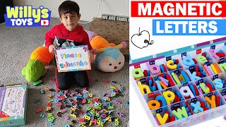 Magnetic Letters And Numbers For Kids Educational Toy Review - Learn Your Abcs