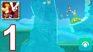 Rayman Fiesta Run - Gameplay Walkthrough Part 1 - Levels 1-6 (iOS, Android)