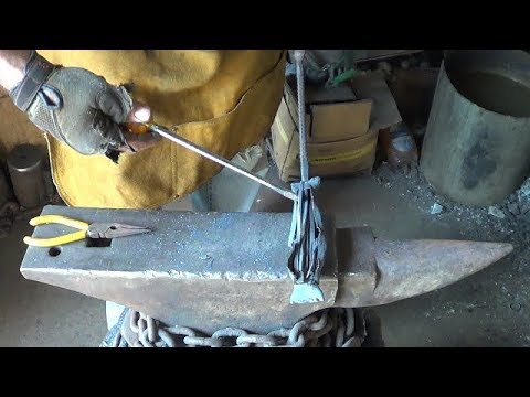 Blacksmithing - Attempting Argon Canister Forge Welding Stainless Steel