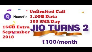 Jio celebration offer: 100/Months (Unlimited call/data/messgae)