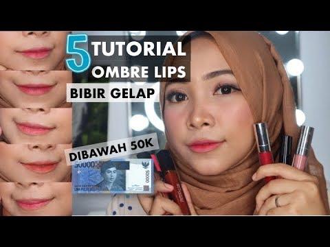 ombre-lips-untuk-bibir-hitam-pakai-produk-murah-dibawah-50.000