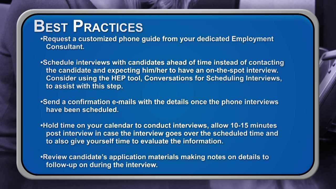 uk employment video how to conduct a phone interview uk employment video how to conduct a phone interview