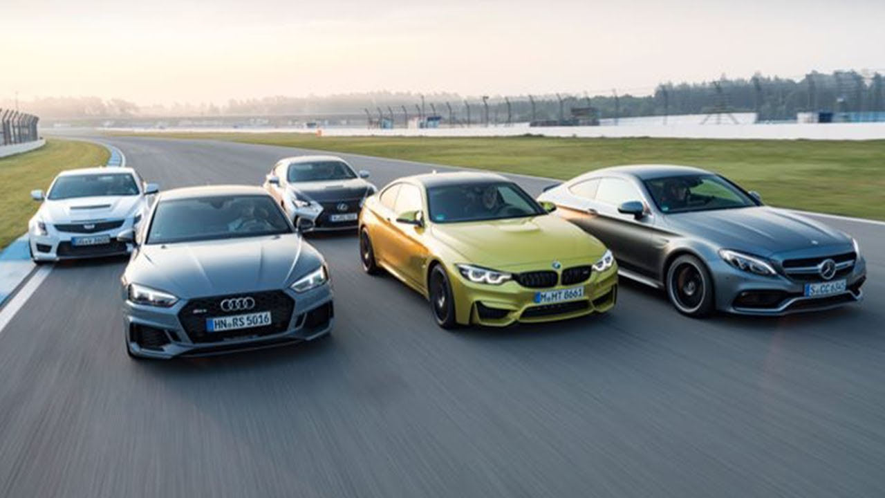 cadillac cts v vs audi rs5 vs bmw m4 vs lexus rc f vs