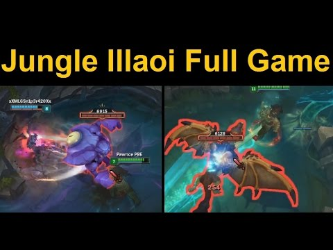 Jungle Illaoi Full Gameplay - She's Like... a slightly crappier Jungle Tahm