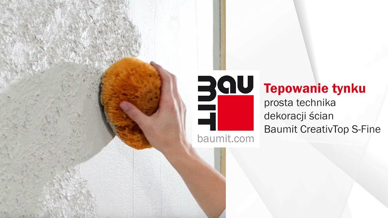 Tepowanie Tynku Prosta Technika Dekoracji ścian Baumit Creativtop S Fine