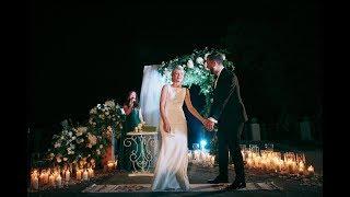 Andrey&Lily Wedding Ceremony. Вечерняя/ночная  церемония. Свадебные клятвы. Ведущая Ольга Гриневич